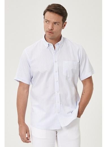 Beymen Business Regular Fit Çizgili Gömlek 4B2020200110 Beyaz